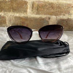 "KREWE - ""Lillian"" Rose Gold+Petal Sunglasses"